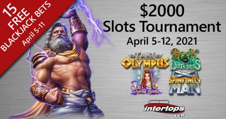 Intertops menawarkan hadiah uang $ 2.000 untuk turnamen slot online
